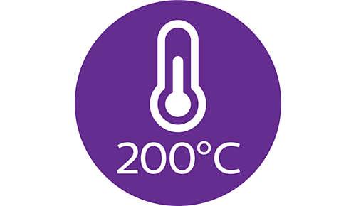 Professionele stylingtemperatuur van 200 °C