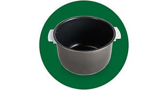 Posuda s ručkama, obložena keramikom za jednostavnu uporabu i čišćenje