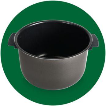 Съд с дръжки и керамично покритие за лесна употреба и почистване