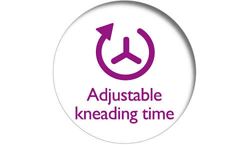 Customize the bounciness by choosing kneading time