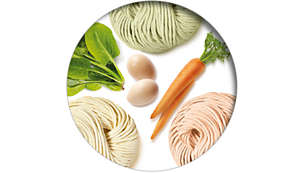 Create authentic noodles with all kinds of fresh ingredients