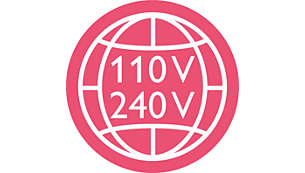 Use anywhere in the world with universal voltage