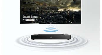 Conecta el subwoofer inalámbricamente a un televisor para disfrutar de un sonido fantástico