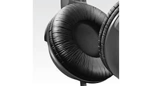 Soft breathable ear cushions for long listening sessions
