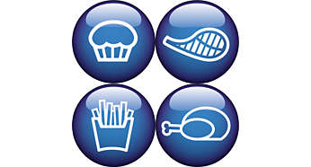 Fritere, grille, steke og bake med Philips-frityrgryten med lite fett