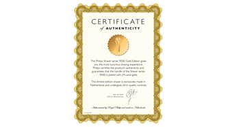 Afeitadora certificada de edición limitada enchapada en oro de 24 quilates