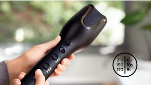 Philips Auto Curler 3 heat & 3 timer settings for different hair types