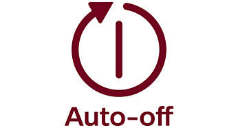 Auto shut-off after 30 min. for energy-saving and safety reasons