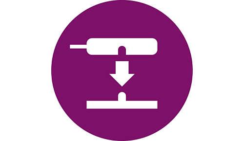 Enkel magnetanslutning som knäpps på för direkt användning utan väntetid