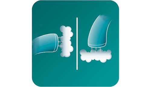 2-in-1: funzione vapore in verticale e orizzontale