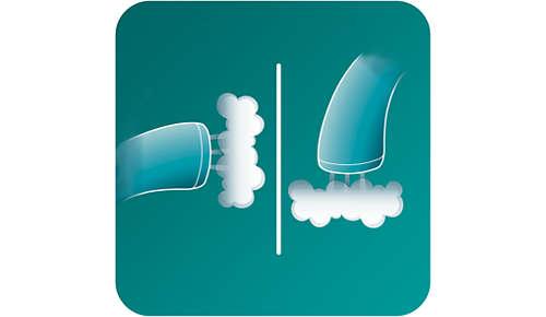 2-i-1: vertikal och horisontell ångfunktion