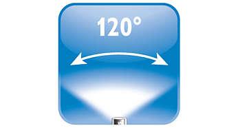 120° verspreiding van licht