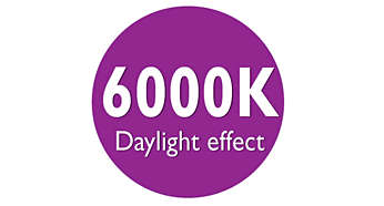Daylight effect 6000K light