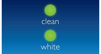 Clean and White Mode: proven to remove stains