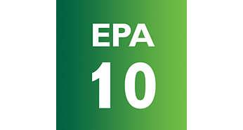 A EPA szűrő felfogja a mikroszkopikus méretű allergéneket