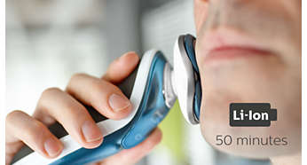 50 minutes of cordless shaving after one hour charge