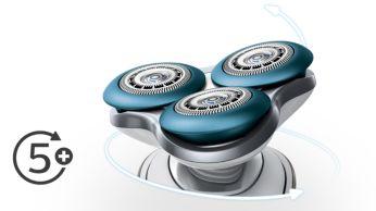 Головки движутся в 5 направлениях для дополнительного комфорта