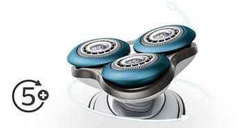 Głowice z łatwością poruszają się w 5 kierunkach, co zapewnia dodatkowy komfort