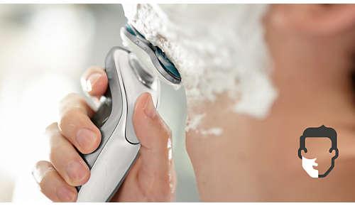 Våtrakning i duschen eller med rakskum