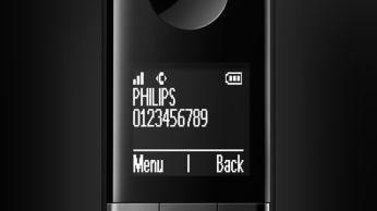 """Hoog contrast, 4,6 cm (1,8"""") wit-op-zwart display"""