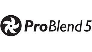 ProBlend 5 星級刀片可有效地攪拌和混合