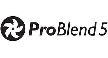 Hvězdicovitý nůž ProBlend5 pro účinné mixování a míchání