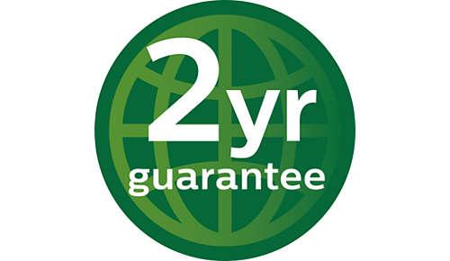 To års verdensomspennende garanti