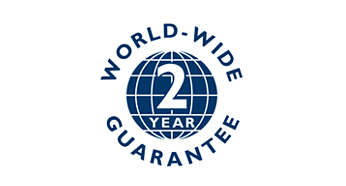 2-year worldwide warranty