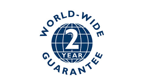 2 year world-wide warranty