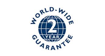 2 metų garantija, galiojanti visame pasaulyje