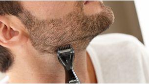 3 precision combs for an even trim of facial hair
