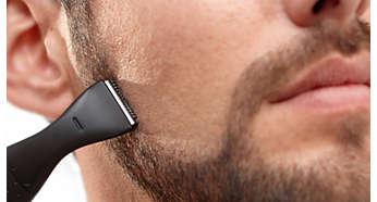 Trim & shape stubble, goatee, sideburns, neckline, mustache