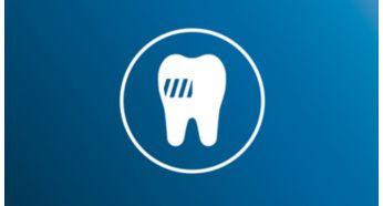 Удаляет до 6раз больше налета по сравнению с обычной зубной щеткой