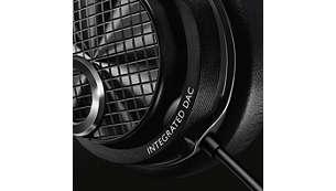 Ampli et convertisseur DAC intégrés pour une musique en haute résolution où que vous soyez