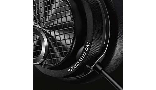 Geïntegreerde DAC en versterker om overal te genieten van muziek met hoge resolutie