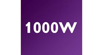 Krachtige 1000 W-motor voor consistente, onovertroffen resultaten