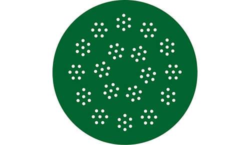 Unikke formplader til at skabe forskellige typer pasta/nudler