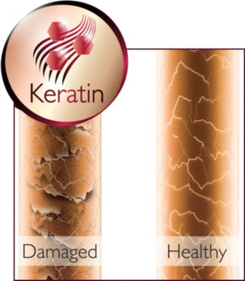 Care for your hair with the keratin-infused ceramic coating