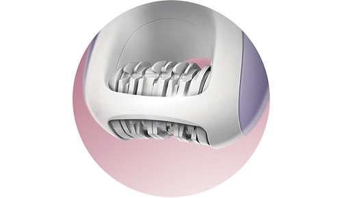 Integrierter Schutzbügel schützt Ihre empfindliche Haut