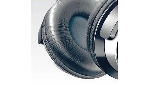 Zachte oorkussens met diameter van 80 mm voor langdurig luistercomfort
