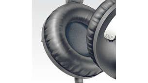 柔軟耳墊讓您舒適並且長久聆聽