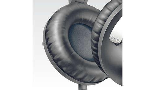 Zachte oorkussens voor comfortabele, langdurige luistersessies