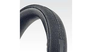 尼龍包裹著不鏽鋼頭帶,為您帶來舒適的佩戴體驗