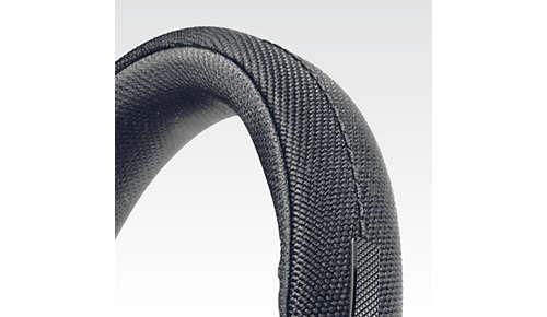 In nylon-gewikkelde hoofdband van roestvrij staal voor maximaal comfort