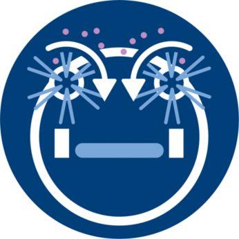 3stupňový systém čištění včetně funkce vytírání mopem nasucho
