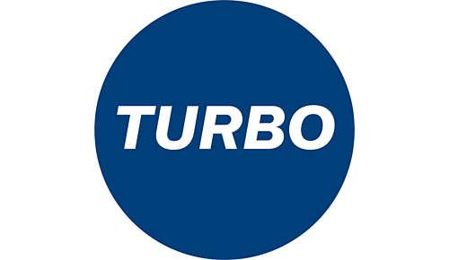 TURBO-zuigmodus voor intensieve reiniging
