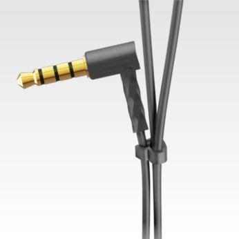 Nuo susipainiojimo apsaugantis slankiklis neleidžia susipainioti ausinių laidui