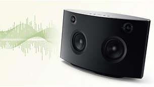 Son ambiophonique puissant avec 4transducteurs de qualité audiophile