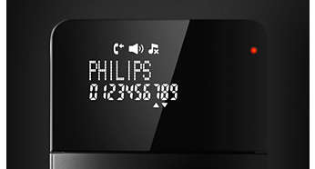 "High-contrast 7-cm (2.75"") white-on-black reverse display"