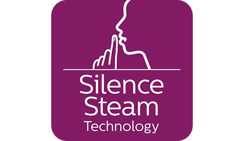 Tecnología de vapor silenciosa: potente vapor con el mínimo sonido
